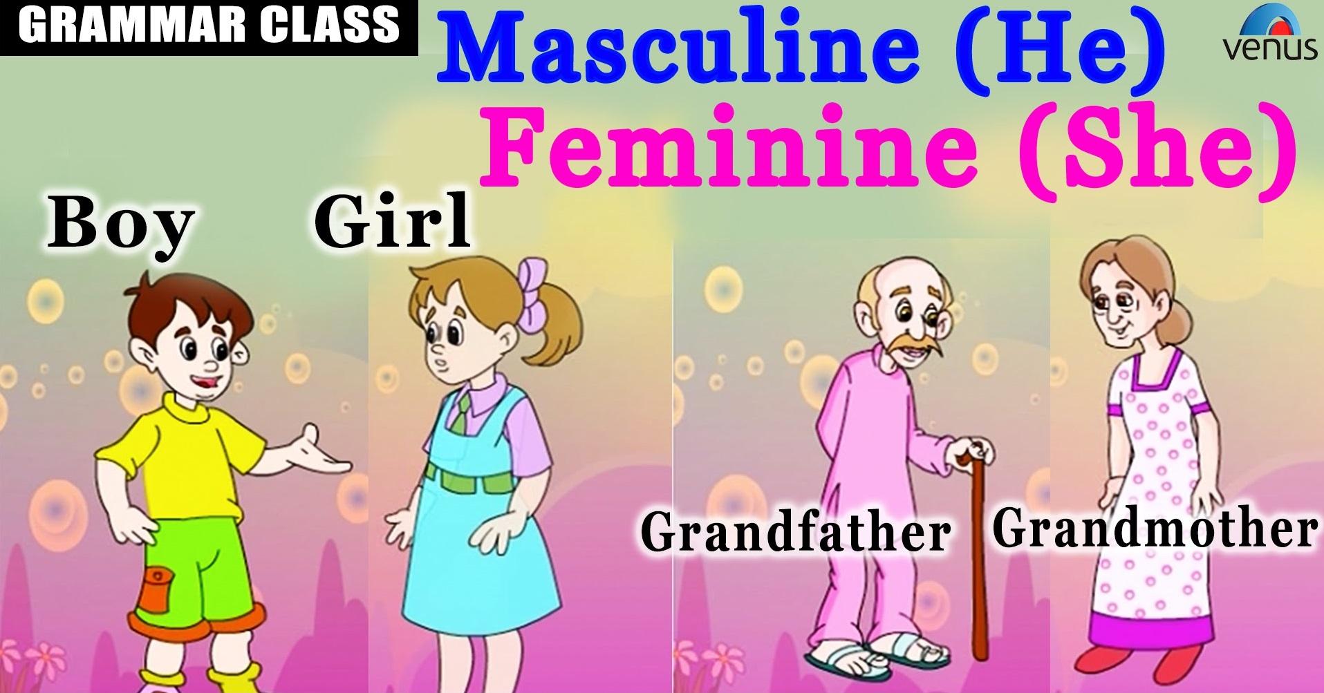 Masculine And Feminine Gender Nouns